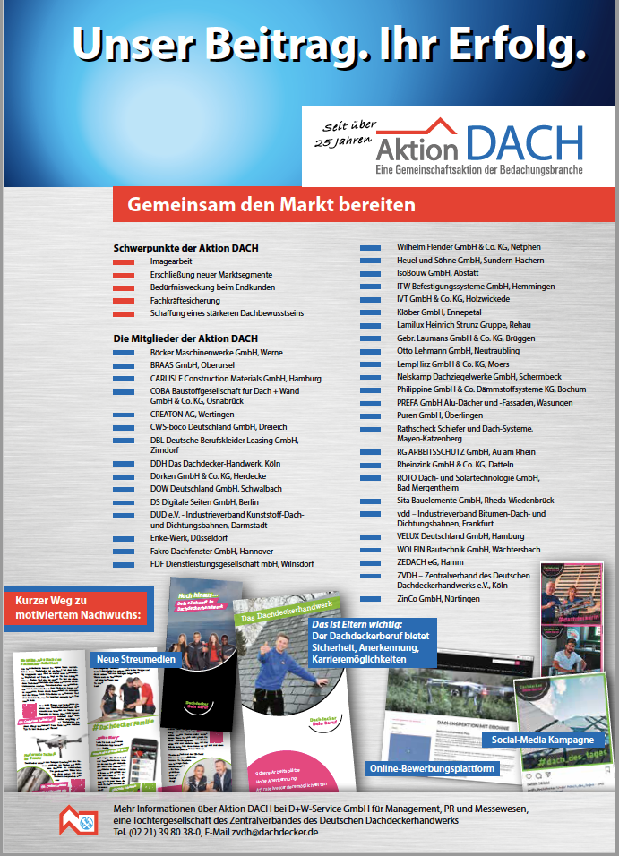 Flyer Aktion Dach